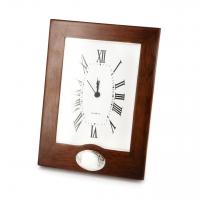 Красиві годинник з дерева зі вставкою з посрібленням CL0732-S