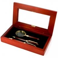 Набор подарочный ручка лупа и механический карандаш SD73-101BMG Albero Ode