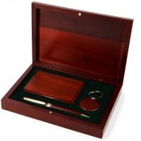 Ручка подарочная визитница деревянная и брелок на ключи S83-07