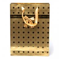 Пакет паперовий 26 * 35 * 12 С85 золотий