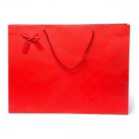 Пакет бумажный 44*32*12 С80 красный