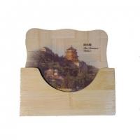Подставка бамбуковая  для чашки набор 6шт.