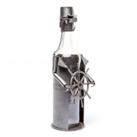 Держатель для бутылки Моряк со штурвалом ПМБ-25