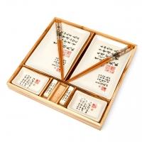 Набор для суши бежевый Иероглифы B149-1 Darunok