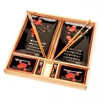 Подарочный набор для суши Цветущая сакура черный B150-2 Darunok
