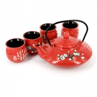 """Подарунковий чайний набір """"Квітуча гілка Сакури"""" А011 Darunok"""