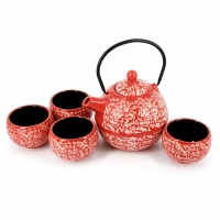 """Китайский чайный набор красный """"Иероглифы"""" А031"""