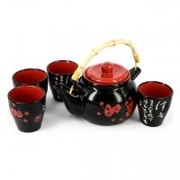 """Японский чайный сервиз """"Сакура"""" черный А037-2 Darunok"""