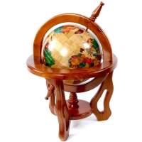 Глобус сувенір подарунковий 220 мм з дерева CB0014