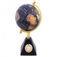Глобус 80 мм на ніжці з годинником CA010