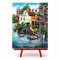 Картина морская Дома в заливе КОП-3-05