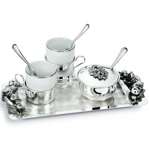 Кофейный сервиз на 2 персоны с подносом 2053006 Chinelli