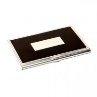 Визитница черная из металла 136-02 А Albero Ode