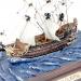 Модель корабля на волнах 15 см Le Soleil Royal G02B