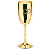 Весільні келихи шампанського металеві Golden 2 шт Chinelli