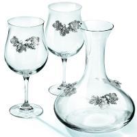 Графин для вина і 2 винних келиха Chinelli