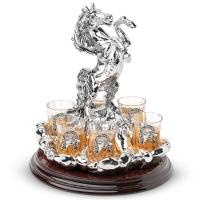 Набор для водки с рюмками на 6 шт Лошадь Chinelli