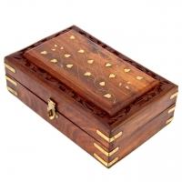 Різьблена дерев'яна шкатулка велика WD.264-1