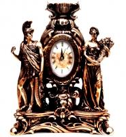 Каминные часы статуэтка греческих мужчины и женщины T1404 Classic Art