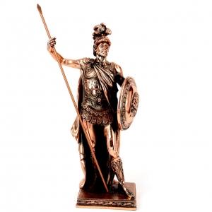 Статуэтка воина Древней Греции с копьем T106-1