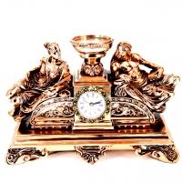Камінні годинники з свічником T1413 Classic Art