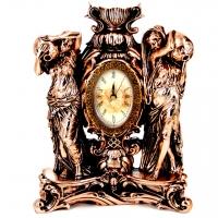 Каминные настольные часы с подсвечником Купальщицы T1468