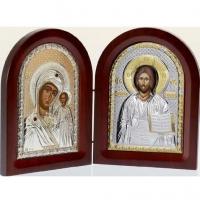 Икона складень Богородица Казанская и Иисус MA/E1355-25X Prince Silvero