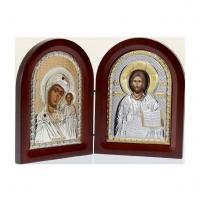Ікона складень Богоматір Казанська і Ісус Христос MA/E1356-25X Prince Silvero