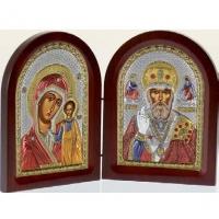 Икона складень Казанская Богородица и Святой Николай MA/E1355-30XC Prince Silvero