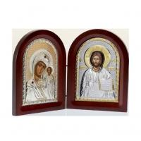 Икона складень Иерусалимская Богородица и Иисус Христос MA/E1356-27X