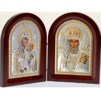 Икона складень Вифлеемская Богородица и Николай Чудотворец MA/E1356-28X Prince Silvero
