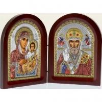 Икона Диптих складень Иерусалимская Богоматерь и Николай Чудотворец MA/E1356-29XС Prince Silvero