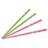 Набір паличок для суші зелено-рожевий 2 пари 04