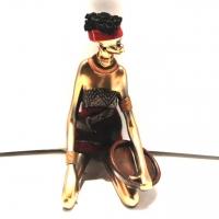Африканская статуэтка девушки 90010 B