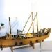 Модель корабля рыбацкий сейнер из дерева 55 см 40210-55