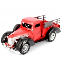 Модель ретро автомобиля пикапа красный 7206-1