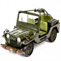 Модель ретро автомобиля военный Jeep CJ110467 Decos