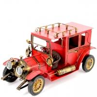 Модель ретро автомобиля красный CJ110525R