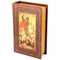 Шкатулка книга большая Святой Георгий C-007B Decos