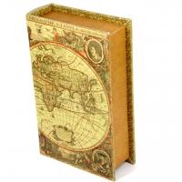 Шкатулка книга велика Стародавня карта C-1002B