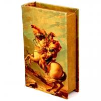 Шкатулка книга большая Наполеон на лошади C-1001B Decos