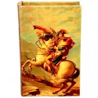 Шкатулка книга средняя Наполеон на лошади C-1001M Decos