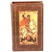 Шкатулка книга средняя Святой Георгий C-007M Decos