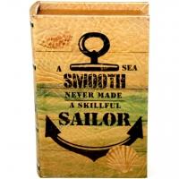 Шкатулка книга средняя Sailor KSH-PU1716M Decos