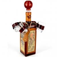 Эксклюзивная бутылка мини-бар Старая карта штоф с рюмками 678-VA Artistica Artigiana