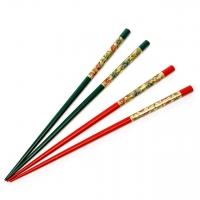Набор для суши палочки красные и бутылочные 2 пары 45