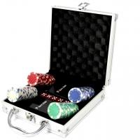 Покерный набор на 100 фишек c пластиковыми картами Pocker Club Lucky Gamer