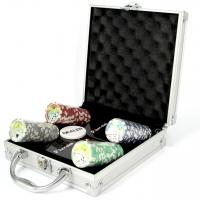 Покерный набор на 100 фишек с номиналом и пластиковыми картами Pocker Club Lucky Gamer