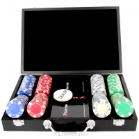 Покерний набір на 200 фішок і пластикові кари Pocker Club