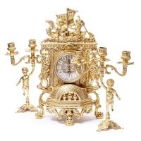Каминные часы Barka и 2 канделябра Bambino 82.101-80.326 Alberti Livio